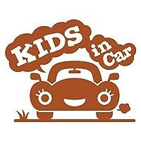 imoninn KIDS in car ステッカー 【パッケージ版】 No.25 クルマさん (茶色)