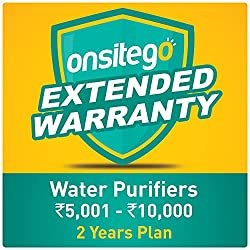 Onsitego 2 Year Extended Warranty for Water Purifiers (Rs. 5,001 to 10,000) (Email Delivery - No Physical Kit),OnsiteGo,Extended Warrranty