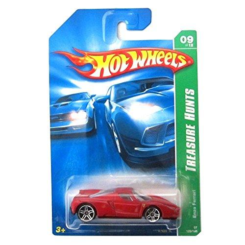 2007 Treasure Hunt #9 Enzo Ferrari Red And Black Interior #2007-129 Collectible Collector Car Mattel Hot Wheels