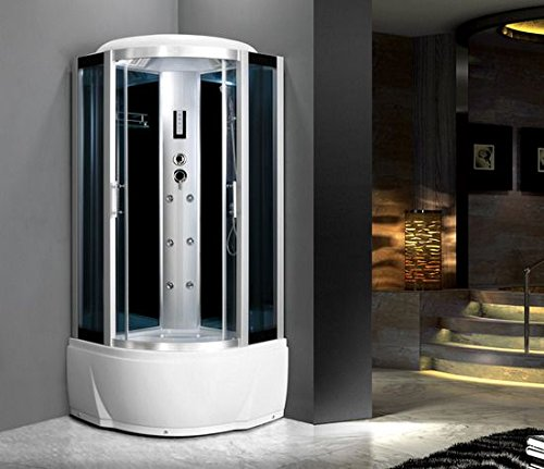 Bagno Italia Cabina idromassaggio 80x80 6 getti con vasca box doccia multifunzione sauna bagno turco I