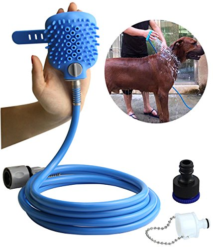 Leadrise Multi-Functional Dog Shower Bath Massager Handheld Sprayer Brush Grooming Tool for Dogs and Cat