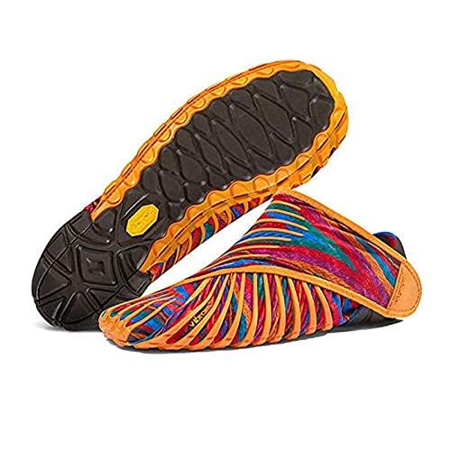 Vibram Furoshiki Zapatos De Cinco Dedos, Zapatos De Tela Envueltos En Cinco Dedos para Hombres, Mujeres Parejas Gimnasio Zapatos De Suela Blanda De Gran Tamaño Orange-M