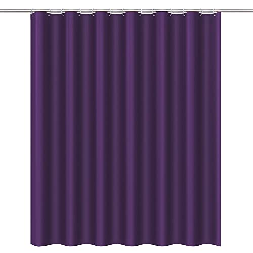Htovila 72 Inches PEVA Waterproof Mildewproof Bathroom Curtain Decorative Privacy Protection Home Hotel Shower