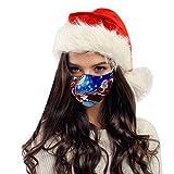 PJQQ Staub- und beschlagfreie Gesichtsmaske Waschbare bedruckbare Wiederverwendbare Gesichtsmaske Kopfschmuck für Damen und Mädchen