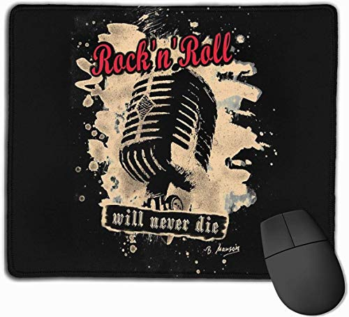 Rock n Roll Microfoon Rode Gaming Mouse Pad Niet-slip Rubber Mousepad voor Computers Desktops laptop Muis Mat 9.8