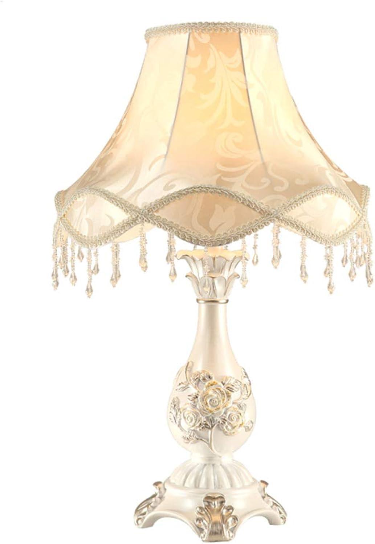 H.ZHOU Modern Nachttisch Lampen Wohnzimmer, Europische Tischlampe Schlafzimmer Nachttischlampe Wohnzimmer Arbeitszimmer Hochzeit Tischlampe Warm Hochzeit Zimmer Garten Kreative Nachttischlampe 30