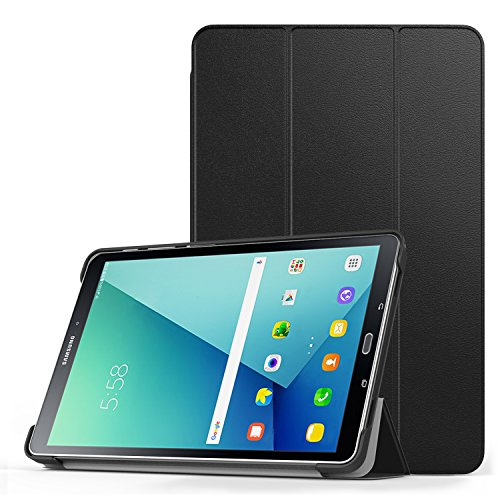 MoKo Compatible con Funda para Samsung Galaxy Tab A 10.1 with S Pen (SM-P580 SM-P585 S Pen Version) - Ultra Slim Lightweight de Soporte Protectora Plegable Smart Cover (Auto Sueño Estela) - Negro