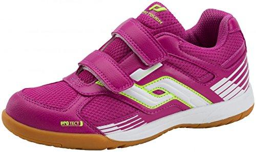 Pro Touch Kinder Hallenschuhe Sportschuhe Courtplayer Schuhe Klettverschluß, Schuhgröße:29;Farbe:Pink