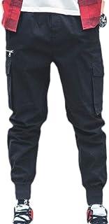 pujingge Mens Fashion Cotton Multi-Pockets Pants Cargo Pants Joggers Harem Trouser