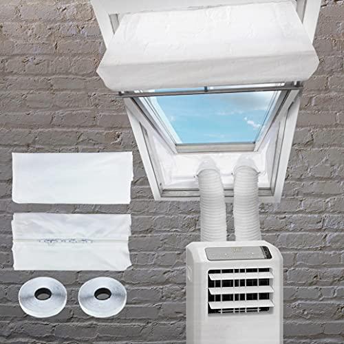 WRISTCHIE Guarnizione per finestra per climatizzatori mobili, finestre del tetto, climatizzatore, per finestre, Hot Air Stop da applicare alle finestre con portata massima di 380 cm, set di 2 x 190 cm