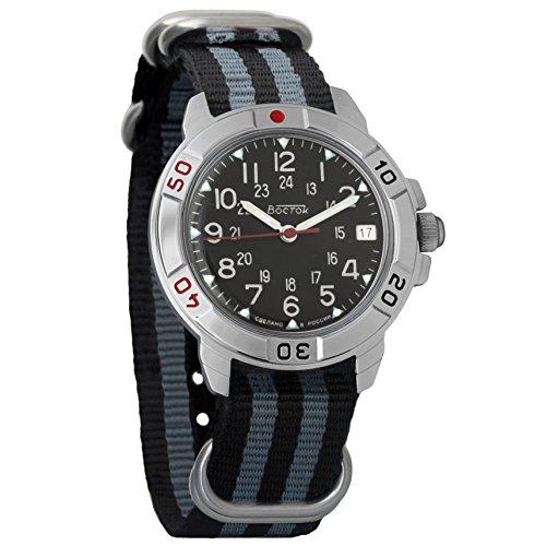 Vostok Komandirskie - Reloj mecánico clásico militar para hombre #431783