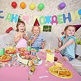 YANGTE Einweg Tischdecke aus Kunststoff 4 Stück,Rosa Plastik Tischtuch Rechteck 137x274cm für Tische im Indoor und Outdoor Partys, Garten, Geburtstage, Hochzeiten, Weihnachten - 3