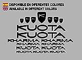 Ecoshirt 8A-389U-9KU6 Pegatinas Kuota Kharma Frame Set Bikes F152 Stickers Aufkleber Decals Autocollants Adesivi MTB BTT, Negro