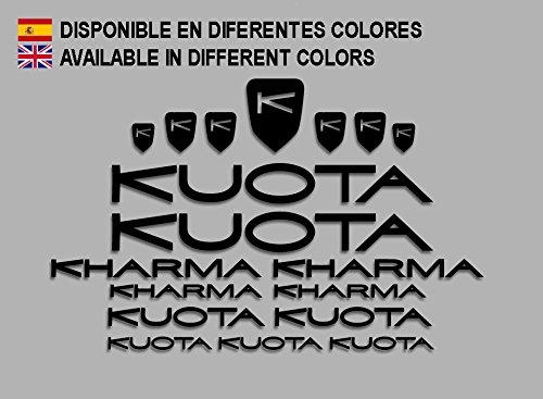 Ecoshirt 8A-389U-9KU6 Adesivi Kuota Kharma Frame Set Bikes F152 Stickers Aufkleber Decals Autocollants Adesivi MTB BTT, Nero