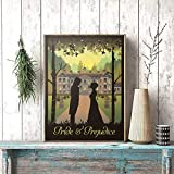 Pride and Prejudice Book and Movie Poster Prints Gifts Vintage Wall Art Canvas Painting Picture Home Room Wall Decor|40x50cm-No Frame