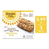 Simple Mills Soft-Baked Nutty Banana Bread Almond Flour Bars, 3 Count (PACKAGING MAY VARY)
