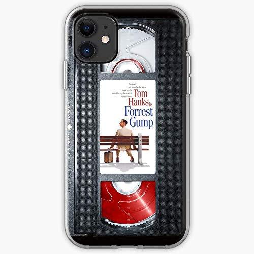 Gladiour Compatible con iPhone 11 12 Pro Max XR 6/7/SE 2020 Funda Tom VHS Hanks Tape Businessman Gump Run Futbolista Forrest Hero Pure Clear Funda de protección a prueba de golpes
