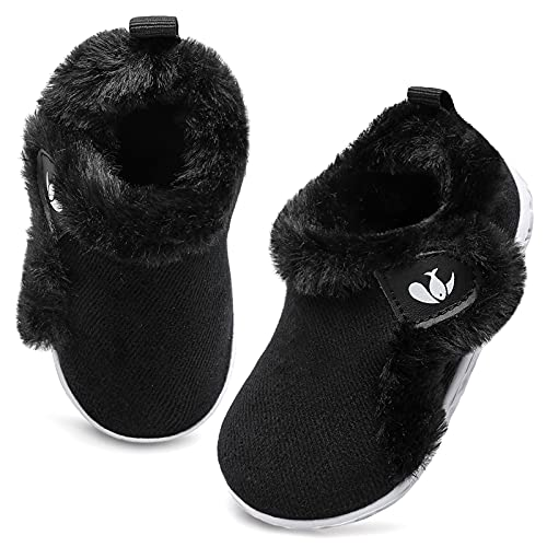 Baby Boots Boys Girls Sneakers Winter Shoes Soft Rubber Sole Infant Newborn Anti-Slip Shoes First Walking Shoes 6-12 Months