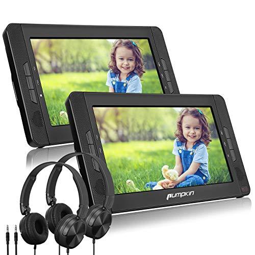 PUMPKIN 10.1' Reproductor de DVD Coche para Niño con 2 Auriculares y 2...