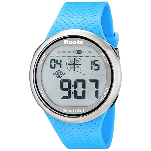By-Roots Sports Watch for Women, Easy-to-Read Digital Display Wrist Quartz Watches, Blue