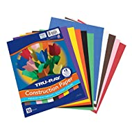 "Pacon Tru-Ray Construction Paper,  9"" x 12"", 10 Classic Colors, 50 Sheets (P103031)"