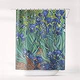 Lplpol Vicente Van Gogh Iris Cortina de Ducha Art Bath decoración del baño Cortina, Sc-vvg-06 con 12 Hooks, 180 x 180