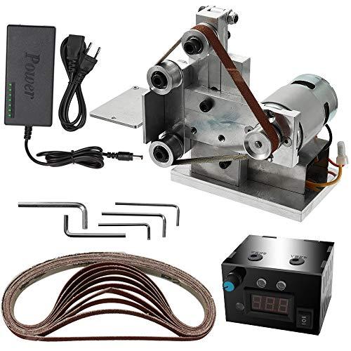 Godyluck Amoladora Multifuncional Mini lijadora de Correa eléctrica Bricolaje Pulido máquina de molienda Cortador Bordes afilador