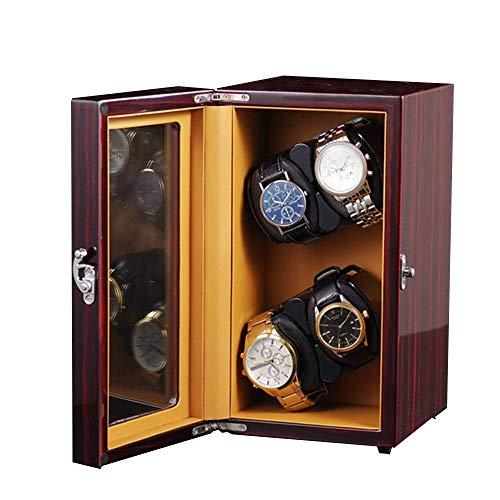 DFJU Watch Winder,Automatic WoodenWatch Winders for 4 Watches Automatic...
