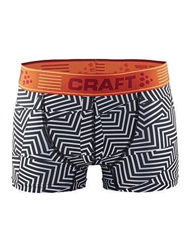 Craft Herren Boxer Boxershorts, Mehrfarbig (maze white), Gr. L