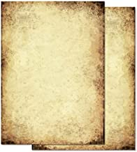 cart/ón Pieza Pergamino Vintage DIN A4 imprimibles nobiliario Nostalgie Certificados del tesoro Tarjetas Manualidades Papel regalos Papel para manualidades para tarjetas bodas 120 hojas