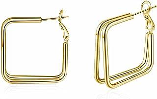 Sponsored Ad - 14K Gold Hoop Earrings for Women,Dangle Drop Earring Large Hoop Earrings , Sterling Silver Gold plated Earr...