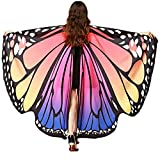 Ladies Fairy Nymph Elf Soft Fabric Butterfly Wings Costume Accessory (Rose Blue)