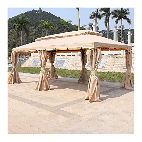 YYDD Villa Garden Furniture, Outdoor Gazebo Lawn Tent, 20x13 FT Gazebo for Patios, Outdoor Canopy Patio Pavilion Villa Garden Gazebo, Ideal for BBQ, Party, Family Gathering (Color : Khaki)