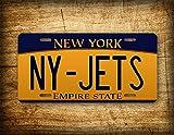 Fhdang Decor New York Jets Nummernschild NFL Football Team State Auto Tag – Metall für LKW/Auto 30,5 x 15,2 cm