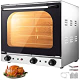 VBENLEM 110V Commercial Convection Oven 60L/2.12 Cu.ft Capacity 2600W Electric Toaster Ove...