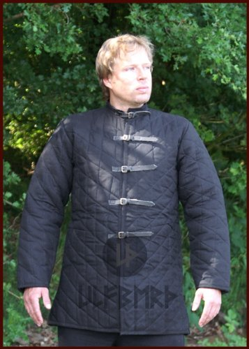 Gambeson médiéval avec boucles Noir Taille S-XXL - Noir - Taille Unique