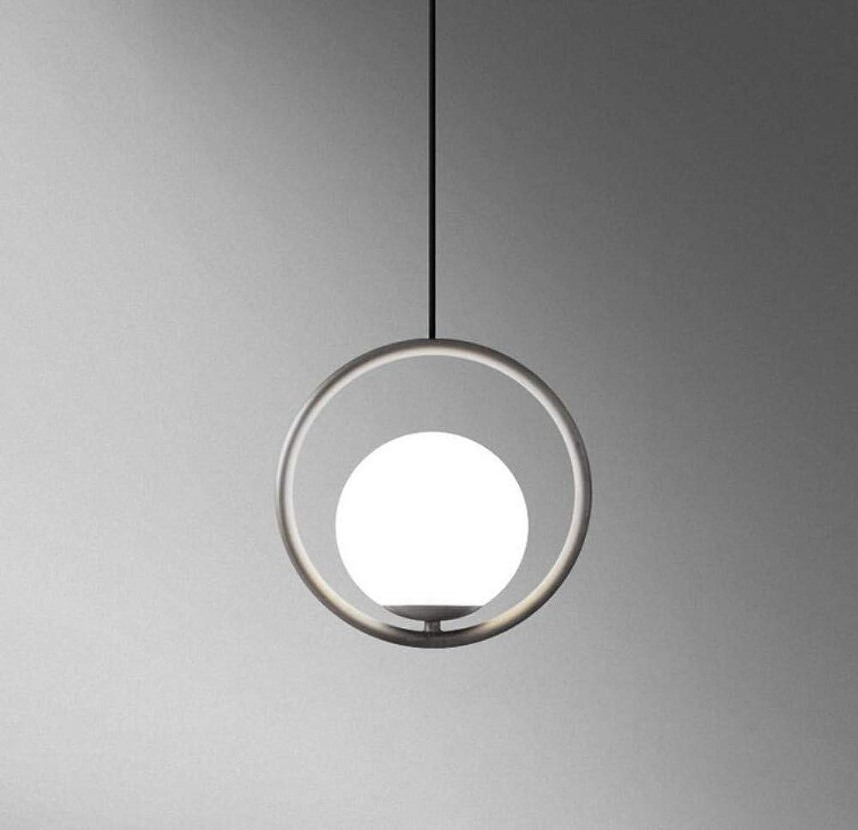 Led Lightcreative Persnlichkeit E27 1-Light Pendelleuchten Leuchte Einfache Hoops Glaskugel Decke Hngen Deckenleuchte
