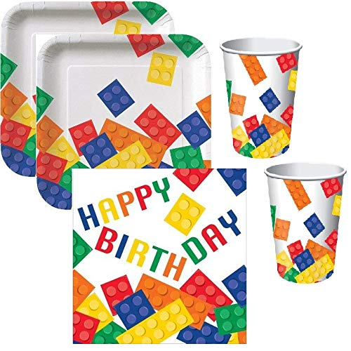 Wonderparty Kit Festa Lego Compleanno Bambini (08 Persone)