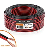 MANAX® cable del altavoz 2 x 0,75 mm² 25 m rojo/negro Anillo