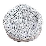 Allegorly weiches und kuscheliges Hundebett Haustierbett Katzensofa Hundehöhle Katzenbett für kleine, mittelgroße Haustiere Doughnut-Form Katzenliege Katzenkissen