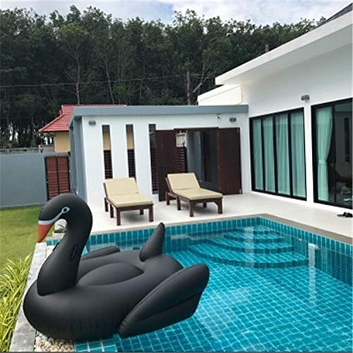 Kinder schwimmt zum Schwimmen, 190CM aufblasbare goldene Schwan weiß schwarz Schwan Mount schwimmende Reihe Schwimmring Erwachsene Kinder schwimmende Wasserbett