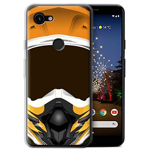 eSwish telefoonhoesje/Cover/Skin/GG-GC/Motorhelmcollectie Google Pixel 3a XL Motocross/Orange