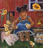Barn Babies by Tricia Reilly-Matthews Art Print, 14 x 15 inches