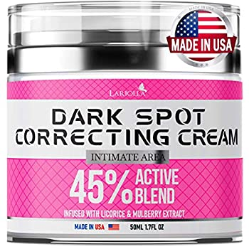 Dark Spot Remоver Cream for Intimate Areas - Body - Face - Bikini and Sensitive Areas - Made in USA - Underarm Cream with Hyaluronic Acid and Mulberry Extract – Vegan