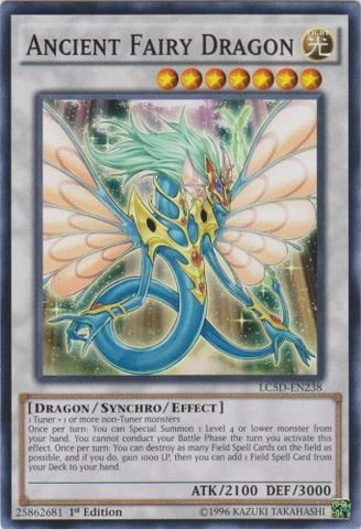 Yu-Gi-Oh! - Ancient Fairy Dragon (LC5D-EN238) - Legendary Collection 5D's Mega Pack - 1st Edition - Common by Yu-Gi-Oh!