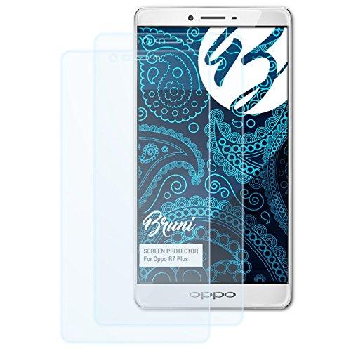 Bruni Schutzfolie kompatibel mit Oppo R7 Plus Folie, glasklare Displayschutzfolie (2X)