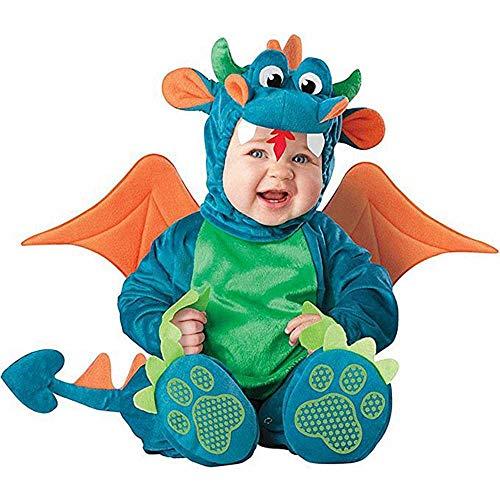 ZBBYMX Baby peuters Baby Rompers Jongens Meisjes Draak Kostuum Halloween Party Cosplay Kostuums Voor Kerst Vakantie Jumpsuit