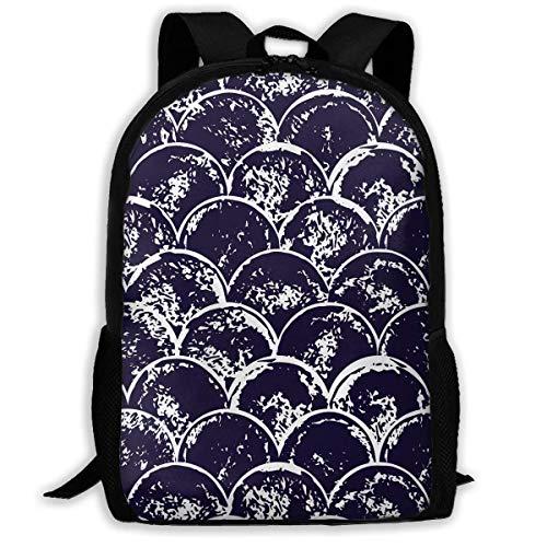 Bingyingne Mochila de viaje premium para adultos con círculos borrados, moderna y moderna, mochila resistente al agua para grandes negocios, colegio, escuela, mochila