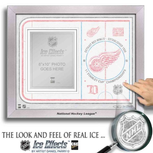 NHL Detriot Red Wings Ice Effects Rahmen