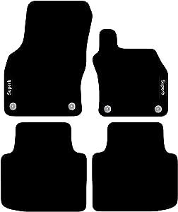 Carsio Tailored Carpet Car Floor Mats FOR Skoda Superb 2015  onwards Clips